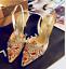 talons Sz bout de Us pointu Strass dames Slingback mariage chaussures hauts à stilettos uTl3F1JcK