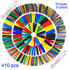 410 Pcs Heat Shrink Tubing 10 Sizes 5 Colors Polyolefin 2:1 Halogen-Free DJI