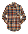 aeropostale womens long sleeve dark plaid flannel woven shirt