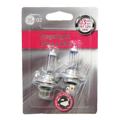 2 X H4 Halogen Light Bulbs Ultra Plus 120/% Megalight Xenon Ge Genuine 60//55w