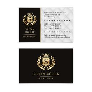 Visitenkarten-individuell-Business-Karten-300g-qm-85-x-55-mm-VIP-Schwarz-Gold