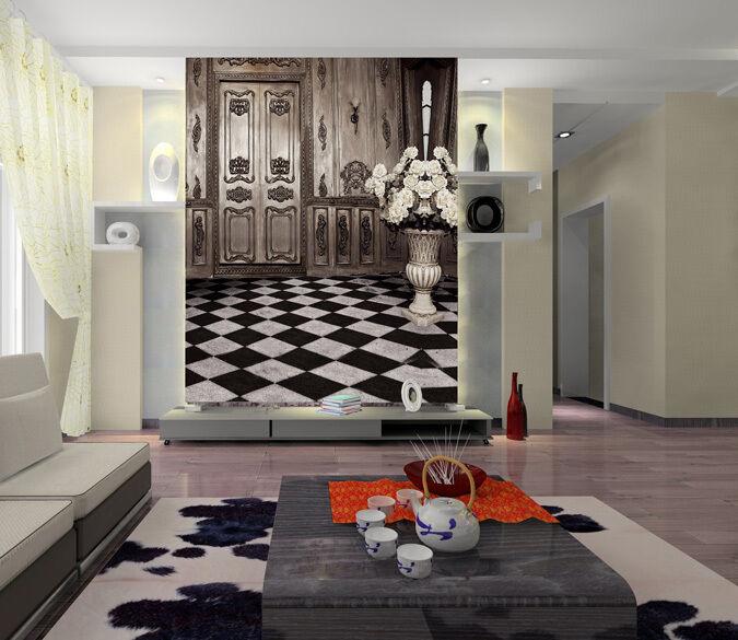 3D Sala 14 Parete Murale Foto Carta da parati immagine sfondo muro stampa