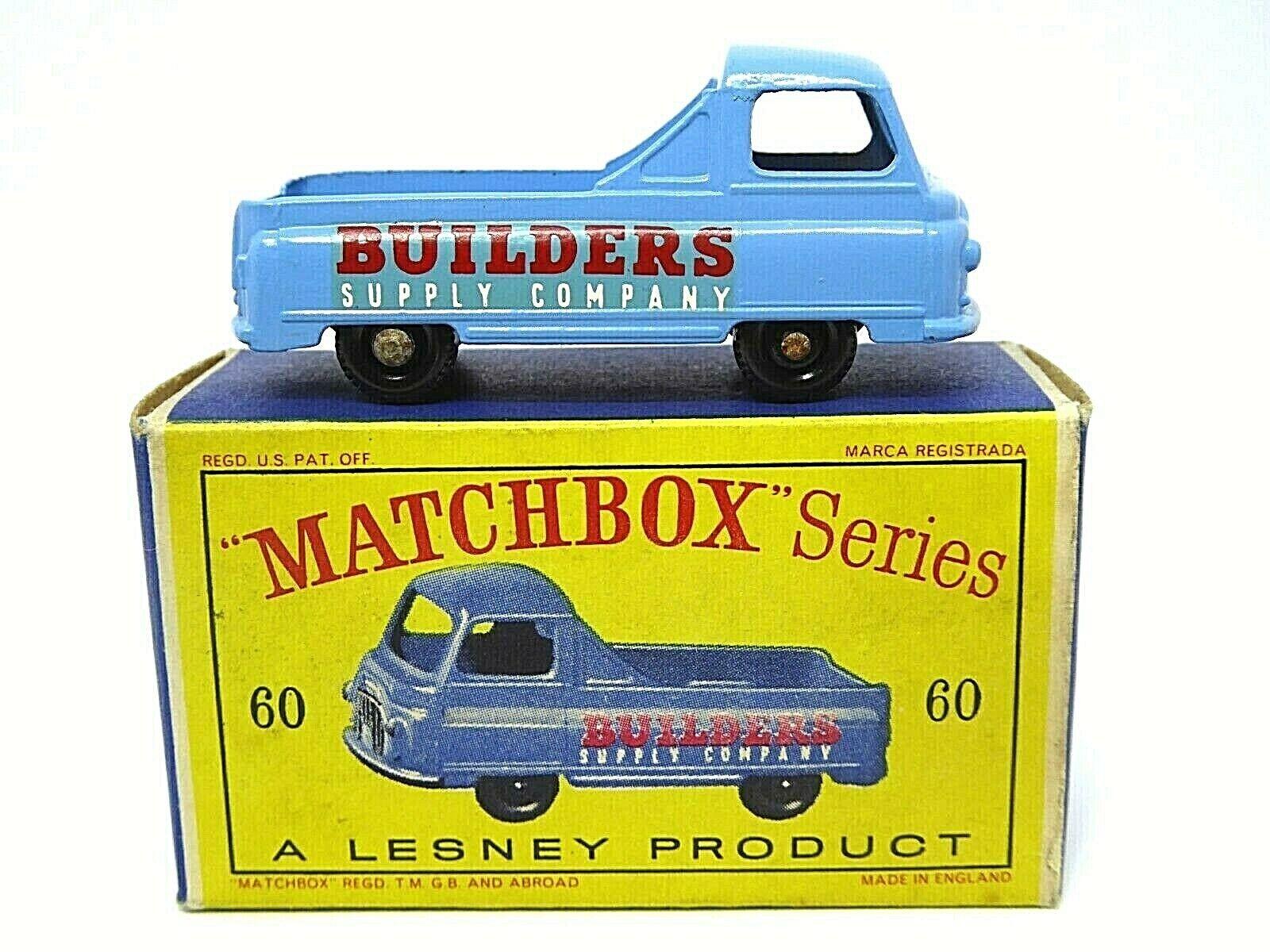 Matchbox Lesney No.60a Morris J2 Pick-Up In Type D2 Series Box (NO REAR WINDOW)