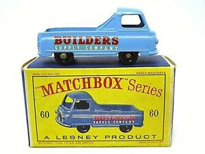 Matchbox-Lesney-Morris-J2-Pick-up-No-60a-en-caja-de-la-serie-D2-tipo-sin-Luneta-Trasera