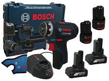 Bosch Akku Bohrschrauber GSR 12V-15 FC FlexiClick + 2x Akku 4,0Ah 12V  + 2 x 2,0