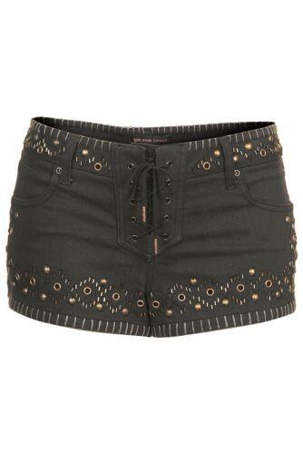 Original rare Borchie Pantaloncini di Jeans da Kate Moss For Topshop esclusivo £ 50 UK 8