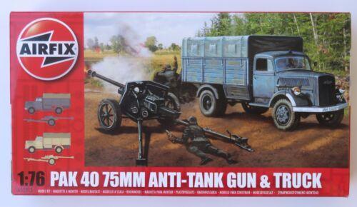 Airfix PAK 40 75mm Anti-Tank Gun /& Track  #02315   Scale 1:76   New in Box