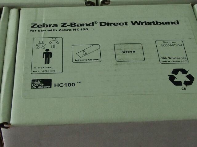 NEW ZEBRA  Z-BAND DIRECT WRISTBANDS - 1 x cartridge