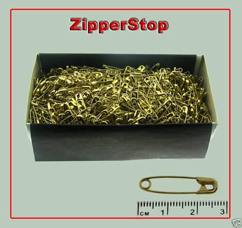 """1,440 Pins 27mm 1 1//16/"""" #1 Safety Pins ~ Gold ~ 1 Box"""