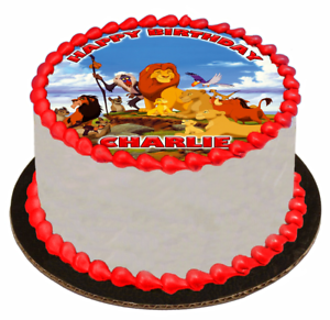 Prime A4 Lion King Edible Icing Birthday Cake Topper Tortenfiguren Funny Birthday Cards Online Barepcheapnameinfo