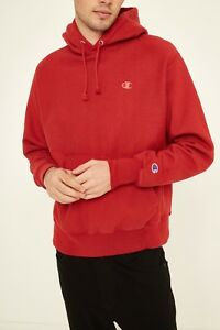 Champion X UO Reverse Weave Full Zip Icon Hoodie Scarlet Red New Medium or Large