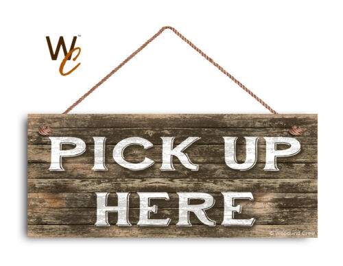 """Restaurant Sign Rustic Decor Cafe Sign 6/"""" x 14/"""" Sign PICK UP HERE Sign"""