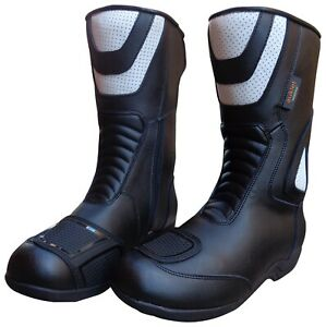 save off 1abf7 2b821 Details about Motorcycle boots Boots Touring Waterproof scooter custom  Enduro Size 38 e47- show original title