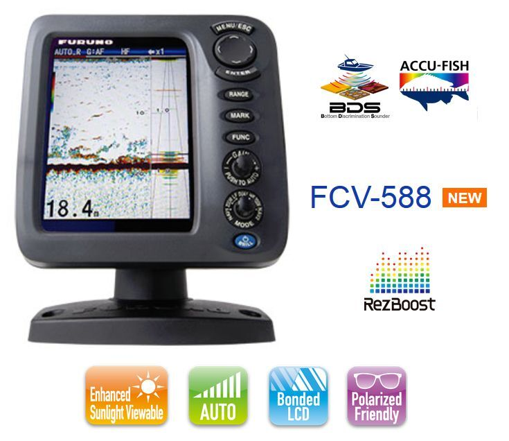 FURUNO FCV 588 ECOSCANDAGLIO   FISH FINDER - DISPLAY DA 8.4  LCD A coloreI
