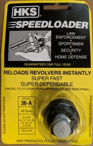 HKS-Speedloader-36-A-for-38-357-Mag-S-amp-W-J-Frame-5-shot-amp-Taurus-85-Factory-NEW