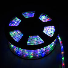 100ft 2 Wire LED Flex Rope Light Xmas Holiday Party Home Outdoor