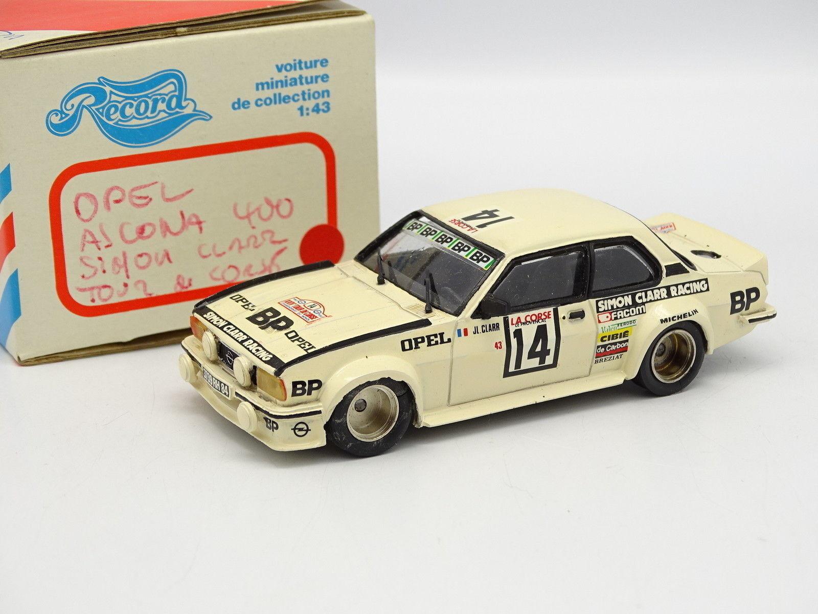 Record Kit Assembled Resin 1 43 - Opel Ascona 400 Tour of Corse 1980