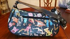 Sydney Love Pocketbook Colorful Models Lots of Zipper Compartments Gently Used
