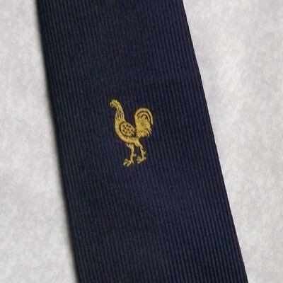 Vintage Cravatta Da Uomo Cravatta Crested Club Associazione Società Gallo- Ultima Tecnologia