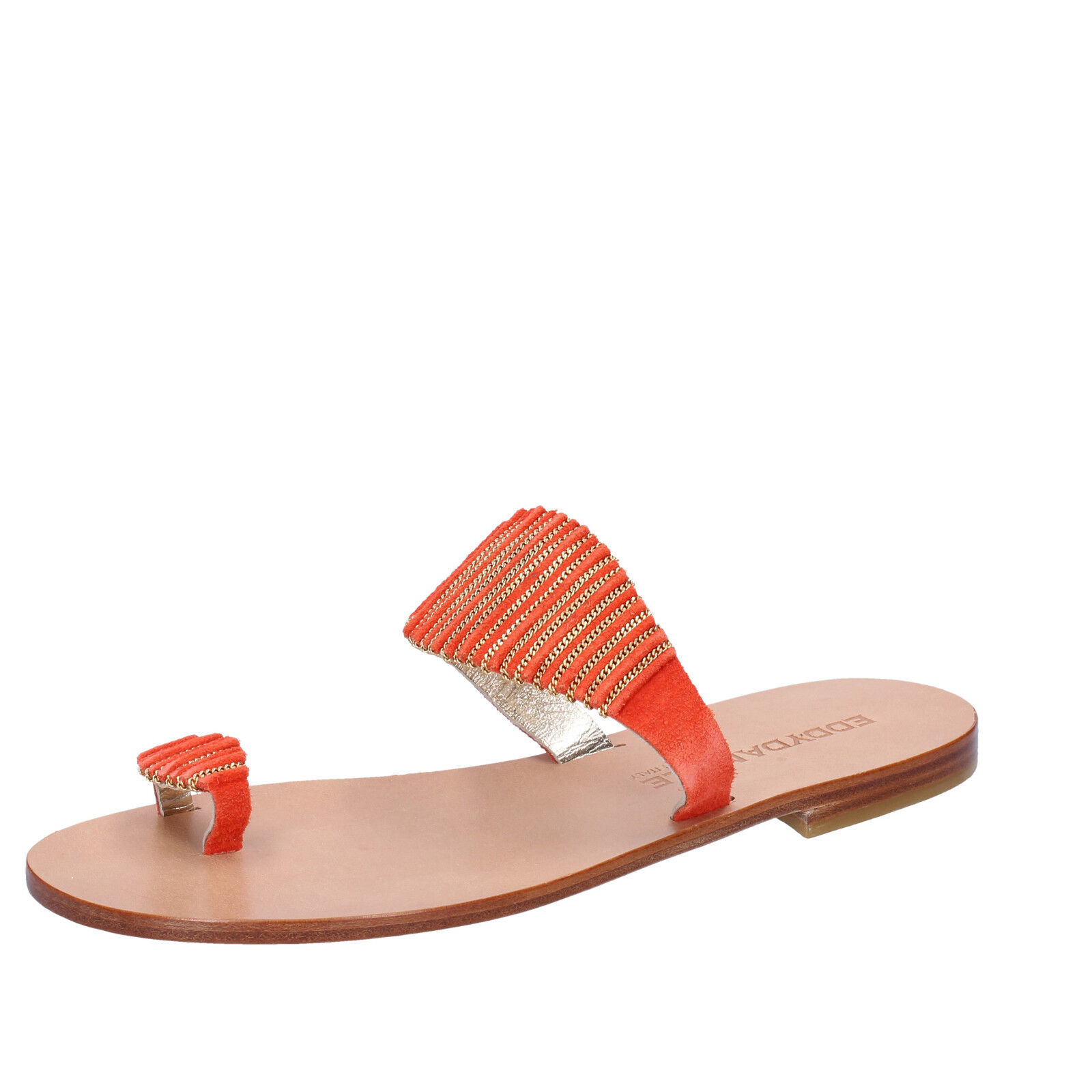 Women's shoes EDDY DANIELE 7 (EU 37) sandals orange suede AX933-37