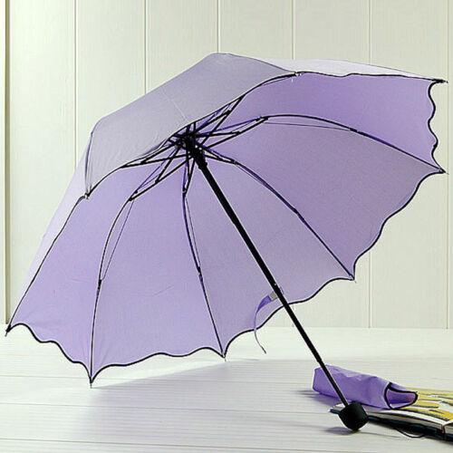 Sale Sun//Rain Umbrella Womens Ladies Compact Folding Windproof Anti-uv Sun Rain