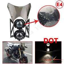 Emarked & DOT Projector Headlight W/ Windscreen For Sachs madass 50 125 Black