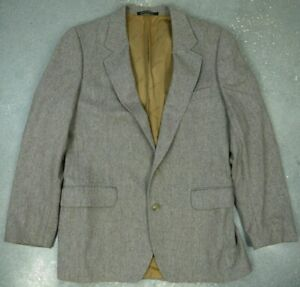 YSL-YVES-SAINT-LAURENT-TWEED-HERRINGBONE-SPORT-COAT-BLAZER-JACKET-FRANCE-MENS-38