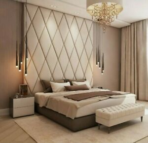 Upholstered Wall Panels Diamond Design Per M2 Ebay