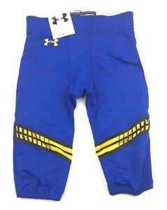 New-Under-Armour-Jet-Stream-Football-Game-Pant-Men-039-s-Large-Blue-Yellow-Black