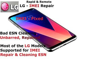 Details about RAPID Remote IMEI Repair LG G4/G5/G6/K7/K10/K20  Plus/Stylus/V10/V20 UNBARRING