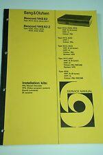 Bang & Olufsen Beocord VHS 82 / 82.2 Service Manual