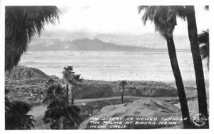 Desert View Biskra 1940s Indio California Frasher RPPC real photo postcard 8182