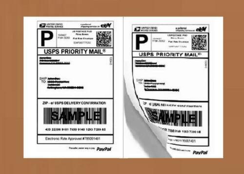 PO07 20 Premium Shipping Labels Self Adhesive HALF SHEET 8.5 x 5.5 PRO OFFICE