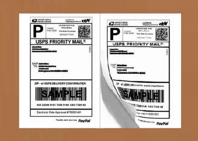 "Half Sheet Self Adhesive Shipping Labels for Laser or Inkjet Printer 8.5/"" x 5.5/"""