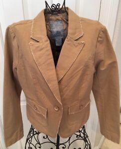 BB-Dakota-Women-039-s-Tan-Jacket-Blazer-Size-L