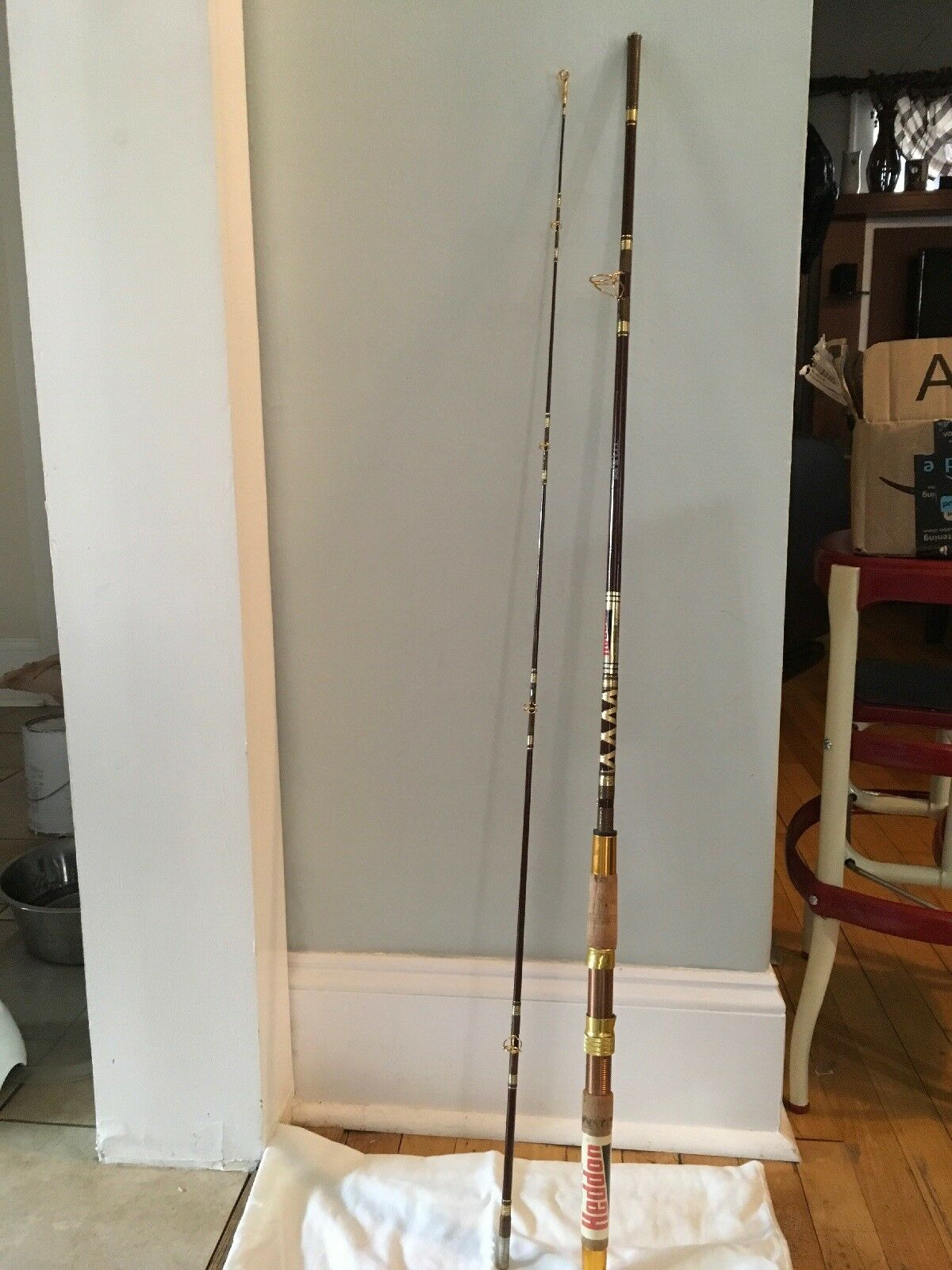 Vintage Heddon  Bamboo & Cork Spinning Rod Fish  online outlet sale
