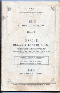 Analytique Feux Et Signaux De Brume - Manche Océan Atlantique Est - 1951 TrèS Poli