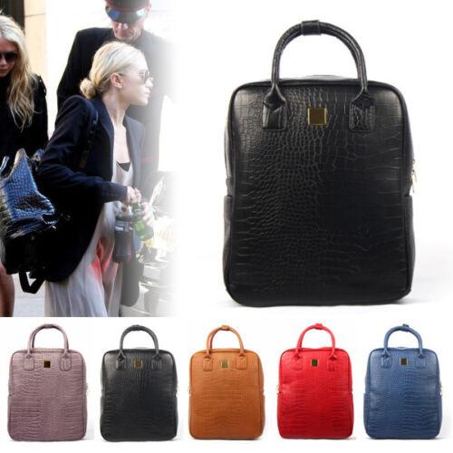 NEW Women Backpack Satchel Shoulder Bag Tote School Snake Bag Faux Leather