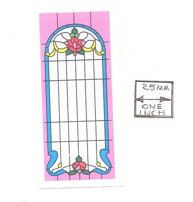 Dollhouse 1//12 Scale Classics Simulated Leadlight Stained Glass Window Insert 03