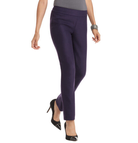 Ann Taylor LOFT Petite Marisa Slim Ankle Pants in LOFT Scuba Sz 8 Petite Purple