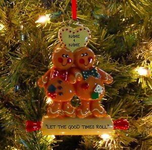 image is loading gingerbread man couple our first christmas personalized christmas