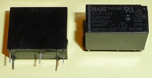 nais Print relais 24 V DC 10 A 250 V 1 contacts NO jq1p-24v matsuita Qualité 1x org