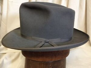 b3841fab1b73a Image is loading Vintage-1960s-Royal-Stetson-Stratoliner-Mens-Gray-Fedora-