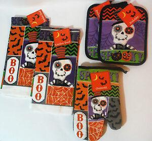 Halloween Bats Pattern All Over Pot Holder Set of 2