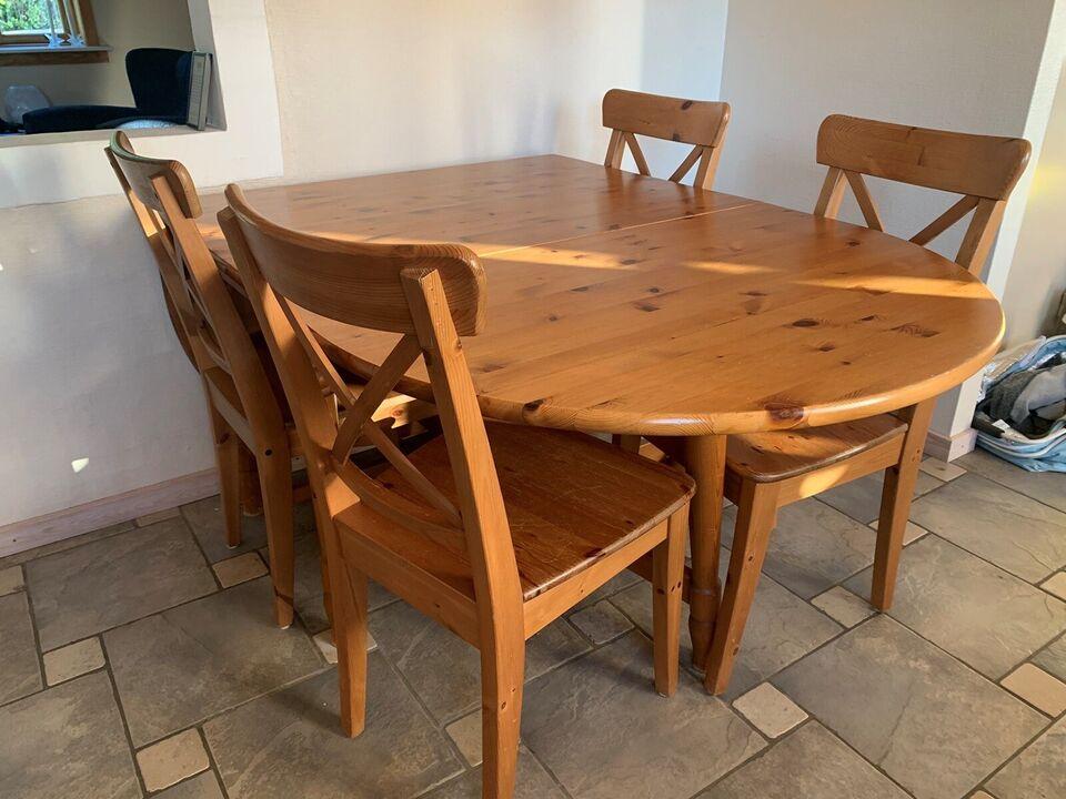 Spisebord, Mørkbejdset fyrretræ, Ikea