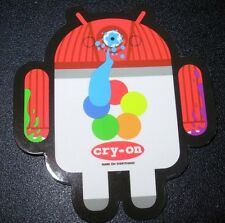 "ANDROID DROID CRY-ON Spray Paint robot logo Sticker 2.5"" Google andrew bell"