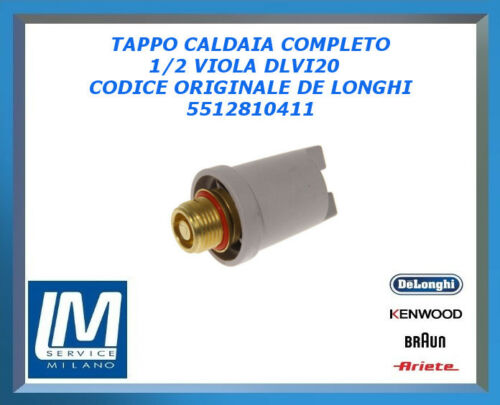 TAPPO CALDAIA COMPLETO 1//2GAS VIOLA DLVI20 5512810411 DE LONGHI ORIGINALE