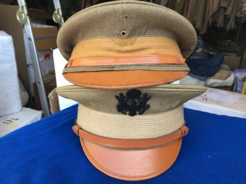 Size 7 3//4 US Army Officer M1912 Service Cap w//Badge
