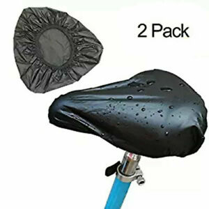 2x Elastic Cycling Waterproof Bike Seat Rain Cover Protective Saddle Cover Part