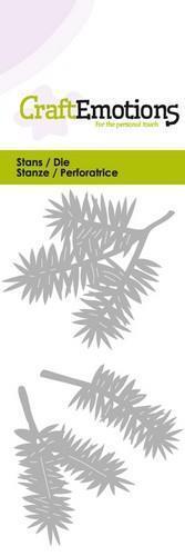 Pine Branches Stencil Dies Universal Cutting Embossing Machine Sizzix Card